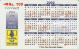 SRILANKA : 44B 100 Calendar 2000 USED - Sri Lanka (Ceylon)