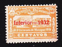 Nicaragua, Scott #C44, Mint Hinged, Managua Post Office Overprinted, Issued 1932 - Nicaragua