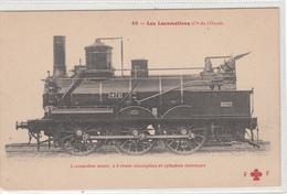 CPA-LOCOMOTIVES-(Cie De L'ouest)Locomotive Mixte,à 6 Roues Accouplées Et Cylindres Intérieurs-TBE - Railway
