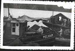 Tonkin Vietnam Indochine Laos 1951 Baie Kalong Transport Compagnie Militaire Chaland PELICAN Tien Yen Quang Yen - Vehicles