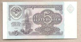 URSS - Banconota Non Circolata FdS Da 5 Rubli P-239a - 1991 - Russia