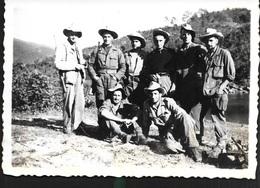 Tonkin Vietnam Indochine Laos 195X Patrouille Terminée En Attendant Le Bac Le Matin Un Tué Chez Moi Militaire - Vehicles