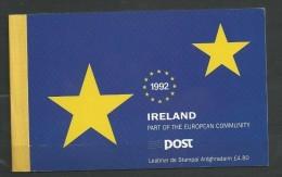 1992 MNH Booklet, Europa, Eire, Ireland, Irland, Postfris - Libretti