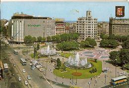 Spain & Circulated, Barcelona, Plaza De Cataluña, Queluz Portugal 1973 (88) - Monuments