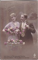 AK Paar Mit Blumen - Bonne Année - Les Roses De Mai... - 1913 (33692) - Paare