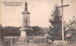 39 - Montrond - Le Monument Aux Morts De La Grande Guerre - Autres Communes