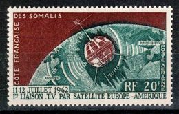Côte Française Des Somalis, 1963, Telstar Satellite, Space, Espace, MNH, Michel 349 - French Somali Coast - Côte Française Des Somalis (1894-1967)