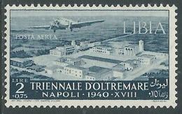 1940 LIBIA POSTA AEREA TRIENNALE OLTREMARE 2 LIRE MH * - I45-10 - Libya