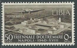 1940 LIBIA POSTA AEREA TRIENNALE OLTREMARE 50 CENT MH * - I45-10 - Libya
