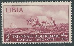 1940 LIBIA TRIENNALE OLTREMARE 2 LIRE MH * - I44-8 - Libya