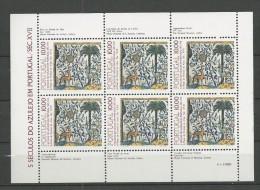 1982 MNH Portugal, Azulejos 6,  Postfris - Blocs-feuillets