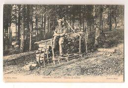 Celles Sur Plaine Chemin De Schlitte Vieux Metiers Forestiers Le Debardeur 88 Voges - Autres Communes