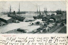 EGYPT - Alexandrie Quai -  UK Postmark Keswick 1904 - Undivided Rear - Good Shipping - Alexandria