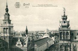 BELGIUM - Gand - 1913 - Panorama De L'Exposition - Tours Des Pavillons D'Anvers Et De Bruxelles - Tentoonstellingen