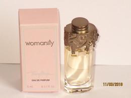Miniatures De Parfum  WOMANITY  De THIERRY MUGLER    EDP   5  Ml    +  Boite - Miniatures Modernes (à Partir De 1961)