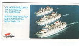 Soviet Russia Black Sea Shipping Company Motor Ship Ad Booklet - Dépliants Touristiques