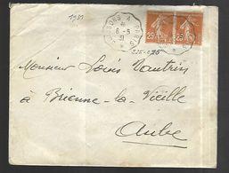 Lettre  De Soissons Vers Brienne La Vieille Du 08  05  1931 - France