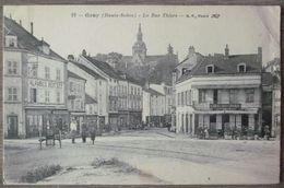 (70).GRAY.LA RUE THIERS.CIRCULE 1915.MARQUE SUR LE COTE DROIT. - Gray