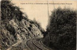 CPA Ligne Du C.F.C.á Claveliére Entre Villemontais Et St.Polgues. (664139) - Altri Comuni