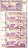 IRAQ 10000 DINARS 2001 2002 P-89 LOT X5 AU-UNC NOTES */* - Iraq
