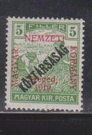 HUNGARY SZEGED Scott # 22 MH - With Additional Overprint - Szeged