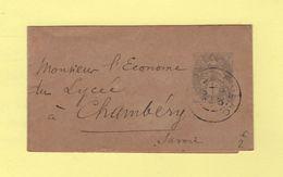 Type Blanc - 1c Bande Journal - Figeac Lot - 1904 - Pour Chambery - 1877-1920: Période Semi Moderne