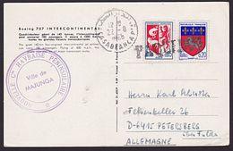 FRANCE MOROCCO Ship Postcard CASABLANCA PAQUEBOT...............7378 - Postmark Collection (Covers)