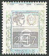 2002 - REPUBBLICA - ALTI VALORI - 2,17 EURO - DOPPIA VARIETA' - MNH -  SIGNED - LUSSO - EURO 600,00 - 6. 1946-.. Repubblica