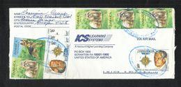Jamaica Air Mail Postal Used Cover Jamaica To USA Dog Animal Temple - Jamaica (1962-...)