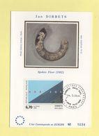 Carte Maximum Sur Soie - N°2987 - Dibbets - 1990-99