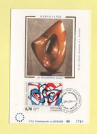Carte Maximum Sur Soie - N°2986 - Wercollier - 1990-99