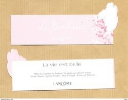 Carte Parfumée Bookmark Perfume Card LE BONHEUR LA VIE EST BELLE LANCOME * FETE DES MERES MOTHER'S DAY 2017 - Cartes Parfumées