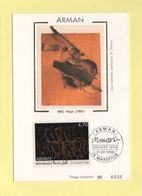 Carte Maximum Sur Soie - N°3023 - Arman - 1990-99