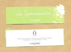 Carte Parfumée Bookmark Perfume Card LA SPONTANEITE O De LANCOME * FETE DES MERES MOTHER'S DAY 2017 - Cartes Parfumées