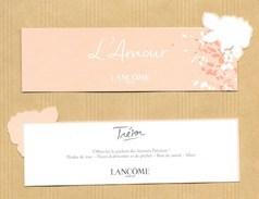 Carte Parfumée Bookmark Perfume Card L'AMOUR TRESOR LANCOME * FETE DES MERES MOTHER'S DAY 2017 - Cartes Parfumées