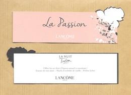 Carte Parfumée Bookmark Perfume Card LA PASSION O De LANCOME * FETE DES MERES MOTHER'S DAY 2017 - Cartes Parfumées