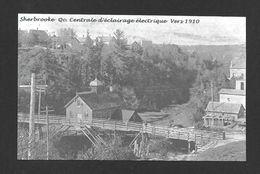 SHERBROOKE - QUÉBEC - CENTRALE D'ÉCLAIRAGE ÉLECTRIQUE VERS 1910 - Sherbrooke