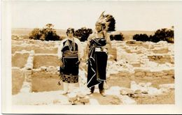 CPA Indiens Amérique Carte Photo Type écrite - Native Americans