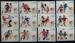 ZAIRE , TEMA FÚTBOL , CAMPEONATO DEL MUNDO ESPAÑA 82 , SIN DENTAR , NUEVOS , PERFECTOS - 1982 – Espagne