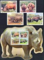 WWF Botswana 2010 Stamps Rhinoceros MNH - Rhinozerosse
