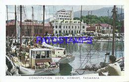 90811 TASMANIA HOBART CONSTITUCION DOCK SHIP PUBLICITY COMMERCIAL ABBOTT PENTOTHAL CIRCULATED TO ARGENTINA POSTCARD - Cartes Postales