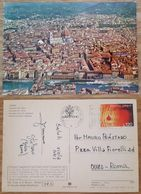 FIRENZE - Panorama Dall'aereo - Air View - Vg Nice Stamp - Firenze
