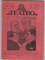 PORTUGAL MAGAZINE - TEATRO - THEATRE - Nº 25  - 1924 - CARICATURE - AMARELHE - Libri, Riviste, Fumetti