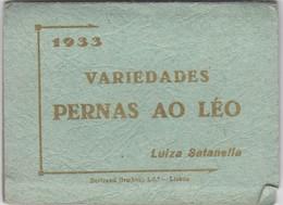PORTUGAL BROCHURE - VARIEDADES  - TEATRO - 1933 PERNAS AO LÉO  - LISBOA - Books, Magazines, Comics