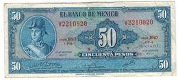 Mexico 50 Pesos 1972,  Crisp VF. - Mexico