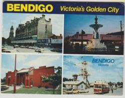Australia VICTORIA BENDIGO City Views Trams Cars Chinese Joss House Nucolorvue Postcard View Folder C1970s - Bendigo