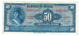 Mexico 50 Pesos 1969,  VF+. - Mexico