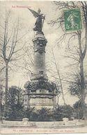 73. PERPIGNAN . MONUMENT DE 1870 AUX PLATANES . AFFR LE 17-5-1921 SUR RECTO - Perpignan