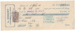 Suisse // Schweiz // Switzerland //  Quittance L.Huguet Conserve En Gros Genève - Suisse