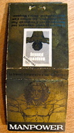 POCHETTE D'ALLUMETTES MANPOWER LE TRAVAIL TEMPORAIRE BIENNE LA CHAUX-DE-FONDS GENEVE LAUSANNE MONTHEY NYON SION SOLEURE - Cajas De Cerillas (fósforos)